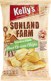 Kelly's Potato Chips Sunland Farm Garden Style Sour Cream Chips