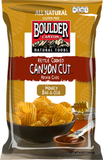 Boulder Canyon Natural Foods Honey Barbeque Canyon Cut Kettle Cooked Potato Chips