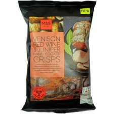 Marks & Spencer Venison Red Wine & Juniper Hand Cooked Crisps Review