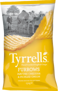Tyrrell's Furrows Cheddar Cheese & Pickled Onion Crisps Review