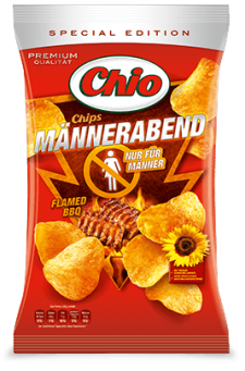 Chio Potato Chips Kartoffel Chips Mannerbend Flamed BBQ