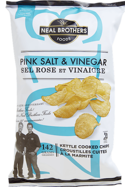 Neal Brothers Pink Salt & Vinegar Kettle Chips