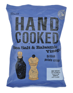 Marks & Spencer M&S Potato Crisps Hand Cooked Sea Salt & Balsamic Vinegar