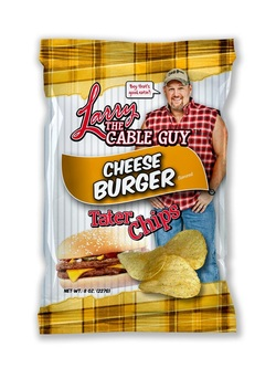 Larry The Cable Guy Tater Chips Cheese Burger