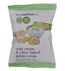 Marks & Spencer M&S Potato Crisps Count On Us Sour Cream & Chive