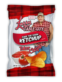 Larry The Cable Guy Tater Chips Pass the Darn Ketchup