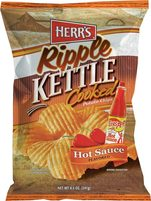 Herr's  Texas Pete Hot Sauce Kettle Cooked Ripple Potato Chips