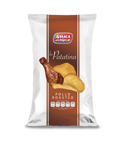Amica Chips Potato Chips La Patatina Pollo Roasted Roast Chicken