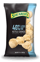 Shearers 40% Less Fat Kettle Cooked Potato Chips
