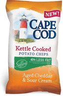 Cape Cod Aged Cheddar & Sour Cream 40% Less Fat Kettle Cooked Chips