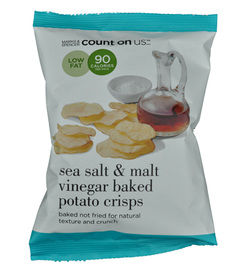 Marks & Spencer M&S Potato Crisps Count on Us Sea Salt & Malt Vinegar