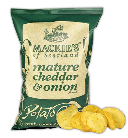 Mackie's of Scotland Mature Cheddar & Onion Crisps Review
