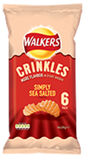 Walkers Crinkles Simply Sea Salted Potato Crisps