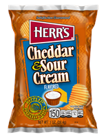 Herr's Cheddar & Sour Cream Chips