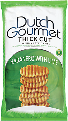 Old Dutch Gourmet Habanero with Lime Thick Cut Premium Potato Chips