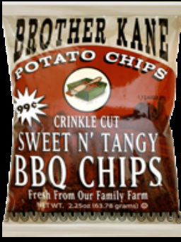 Brother Kane Sweet N' Tangy BBQ Crinkle Cut Potato Chips