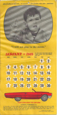 Laura Scudder's Little Boy advertising calendar 1964 1960s
