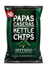 Papas Caseras Kettle Chips Serrano