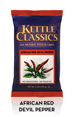 Classic Foods Kettle Classics African Red Devil Potato Chips