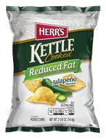 Herr's Kettle Reduced Fat Jalapeno  Chips