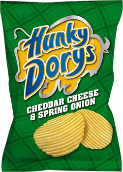 Hunky Dorys Cheddr Cheese & Spring Onion Potato Crisps