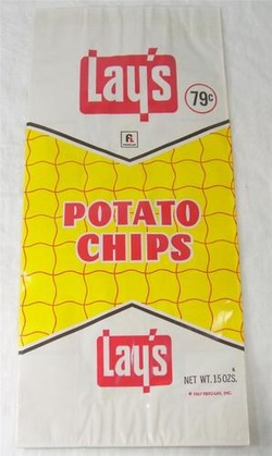 Vintage Lay's Potato Chips Bag