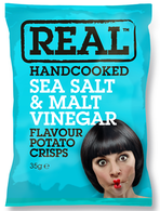 Real Handcooked Sea Salt & Malt Vinegar Potato Crisps
