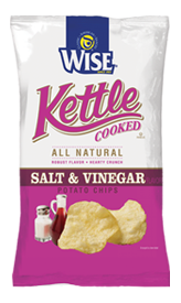 Wise Salt & Vinegar Kettle Cooked Potato Chips