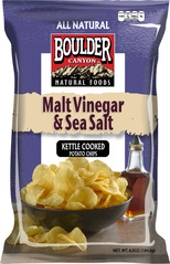 Boulder Canyon Natural Foods Malt Vinegar & Sea Salt Kettle Cooked Potato Chips