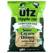 Utz Ripple Cut Reduced Fat Sour Cream & Onion Potato Chips