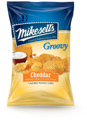 Mikesells's Cheddar & Sour Cream Groovy Potato Chips