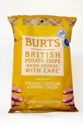 Burts Vintage Cheddar & Spirng Onion Hand fried Potato Chips