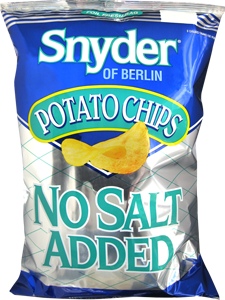 Snyder of Berlin No Salt Added Potato Chips