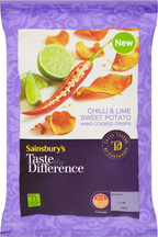 Sainsbury's Taste The Difference Chilli & Lime Sweet Potato Crisps Review