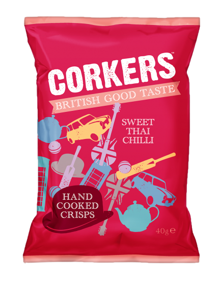 Corkers Sweet Thai Chilli Hand Cooked Crisps Review