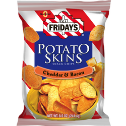 TGI Friday's Potato Skins Cheddar & Bacon Chips Review