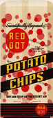Vintage Red Dot Potato Chips Bag
