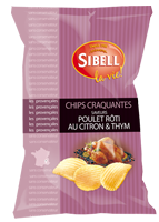 Sibell Potato Chips 3 Poivres Poulet Roti Au Citron & Thyme Roat Chicken, Thyme & Lime