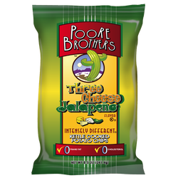 Poore Brothers Three Cheese Jalapeno Kettle Cooked Potato Chips