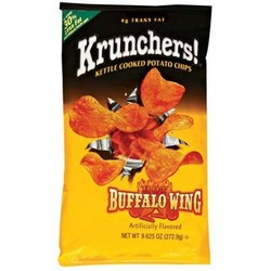 Krunchers! Hot Buffalo Wing Kettle Cooked Potato Chips
