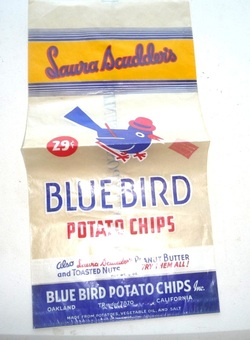 Vintage Bluebird Potato Chips Bag