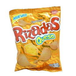 Yupi Rizadas Queso Potato Chips