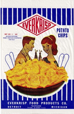 Vintage Ever Krisp Potato Chips Bag