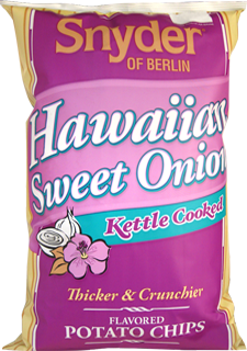 Snyder of Berlin Hawaiian Sweet Onion Kettle Cooked Potato Chips