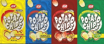IGA Potato Chips by Mitchum