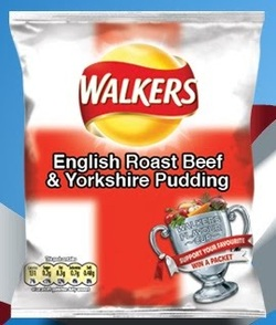 Walkers Roast Beef & Yorkshre Pudding Potato Chips