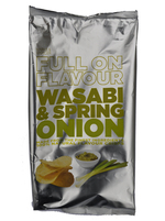 Marks & Spencer potato Crisps Full on Flavour Wasabi & Spring Onion