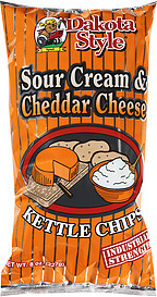 Dakota Style Sour Cream & Cheddar Cheese Kettle Chips