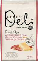 Walkers Market Deli Potato Chips Wiltshire Cured Ham, Mature Cheddar and Farmhouse Chutney Review