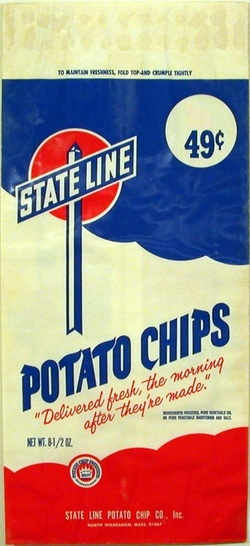 Vintage State Line Potato Chips Bag